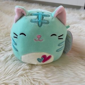 """NWT Squishmallows 4.5"""" Jules the Cat"""